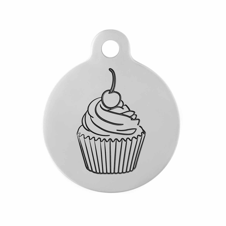 Custom DIY Dog Tag  - Example Design Cupcake