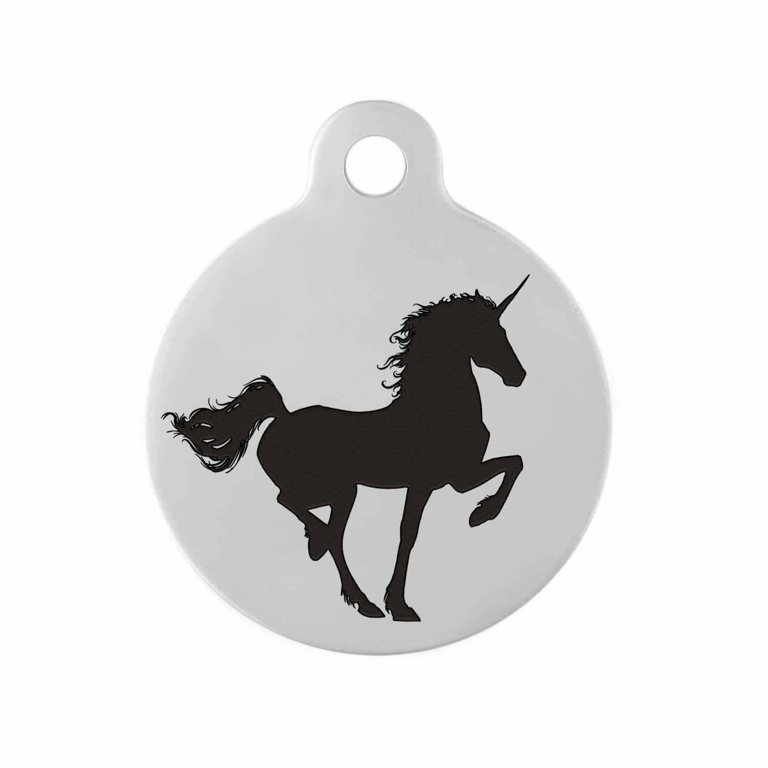 Custom DIY Dog Tag  - Example Design Unicorn
