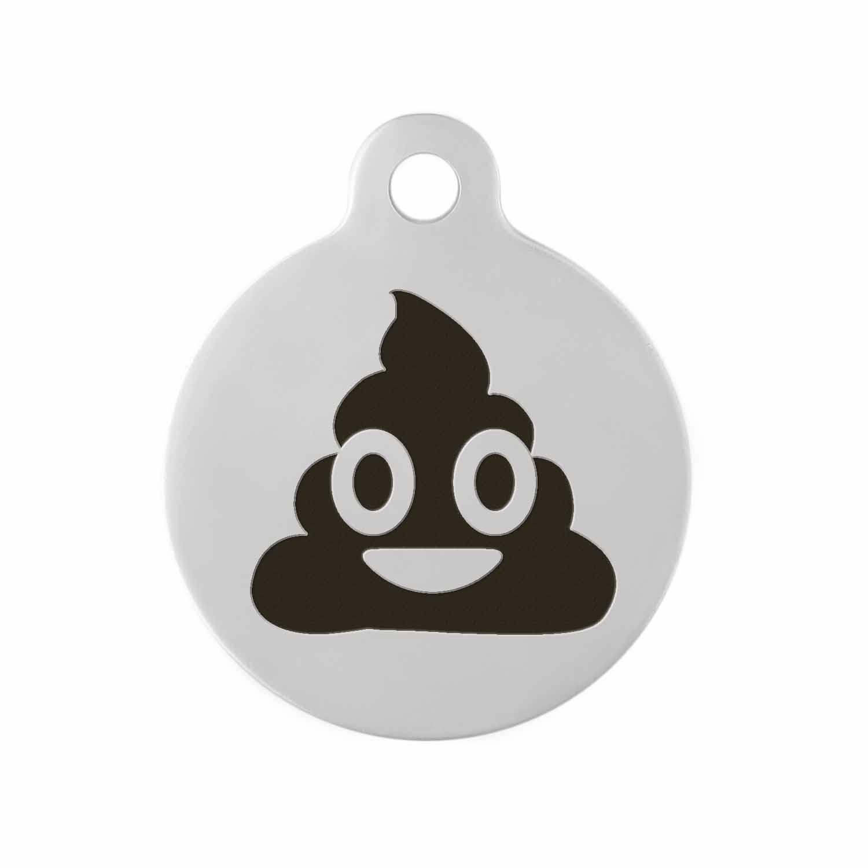 Custom DIY Dog Tag - Example Poop Emoji