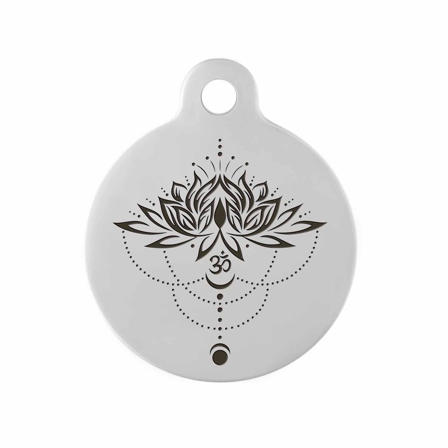 Custom DIY Dog Tag - Example of Flower