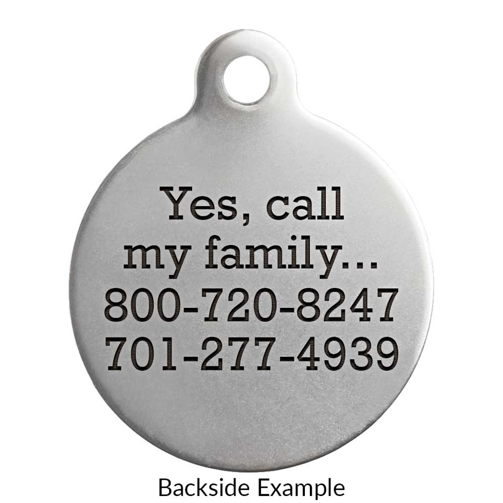 Custom DIY Dog Tag  Backside of Tag