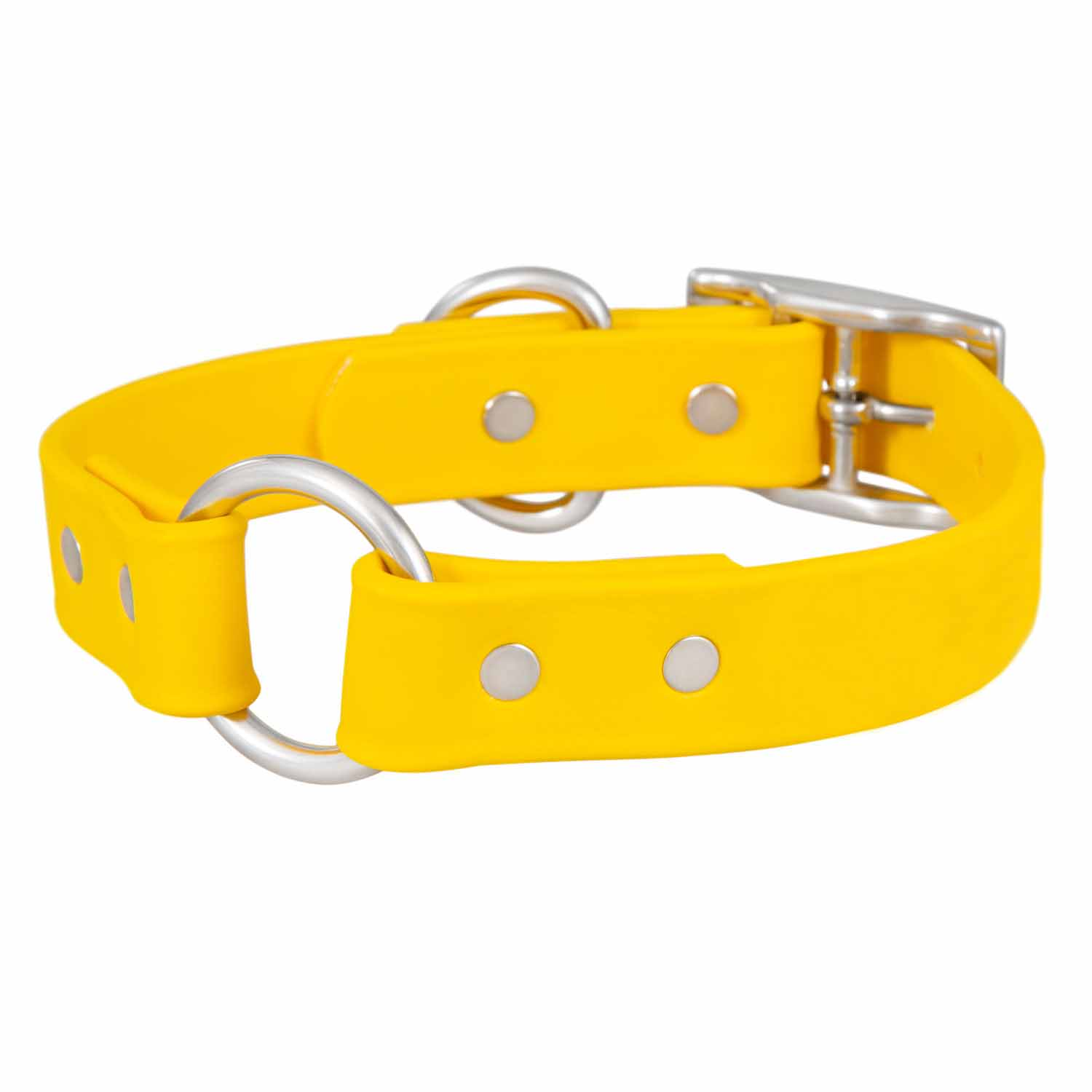 Waterproof Safety Dog Collar - Yellow