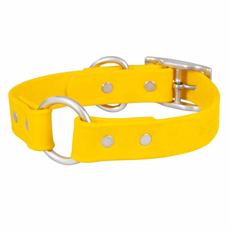 Waterproof Safety Dog Collar - Yellow