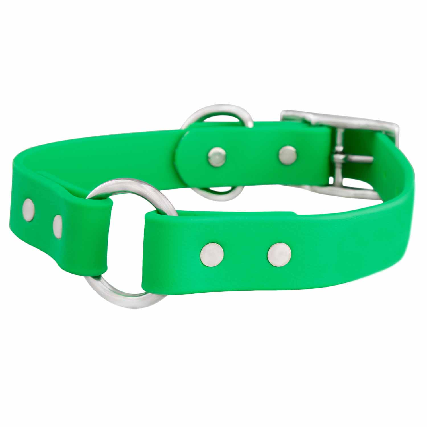 Waterproof Safety Dog Collar - Bright Green
