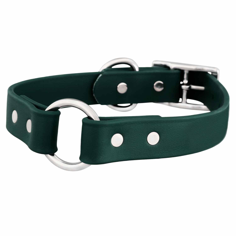Waterproof Safety Dog Collar - Hunter Green