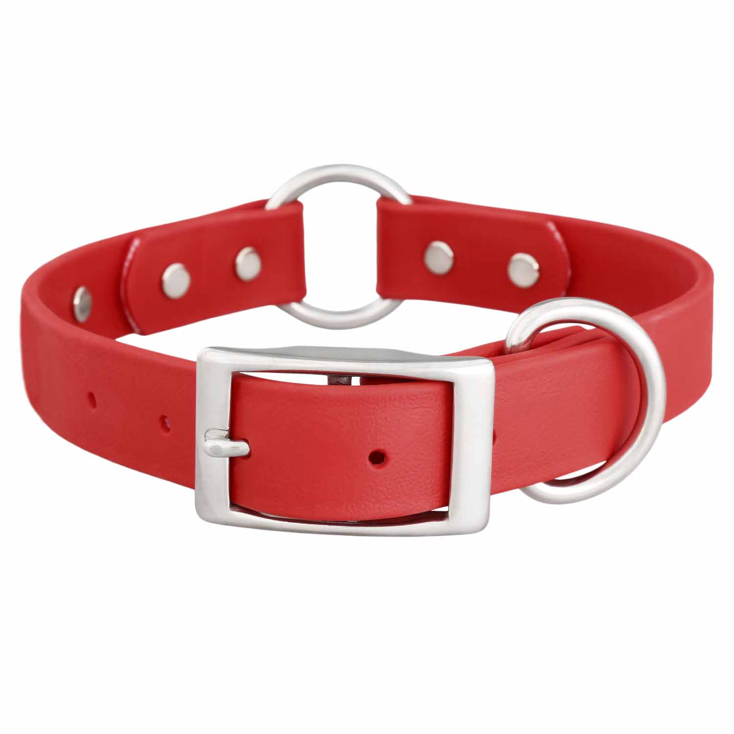 Waterproof Safety Dog Collar - Red