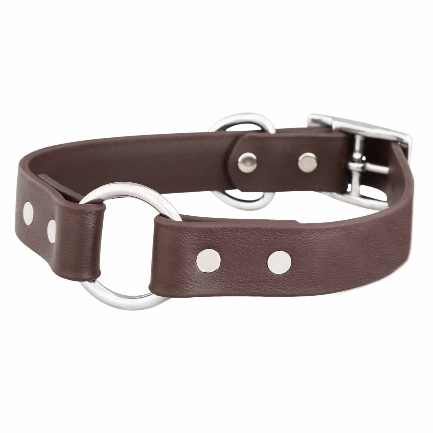 Waterproof Safety Dog Collar - Brown