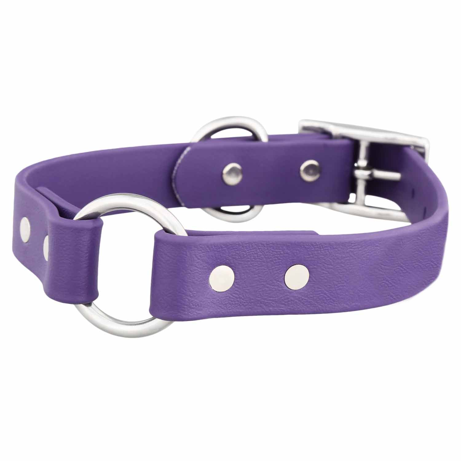 Waterproof Safety Dog Collar - Purple