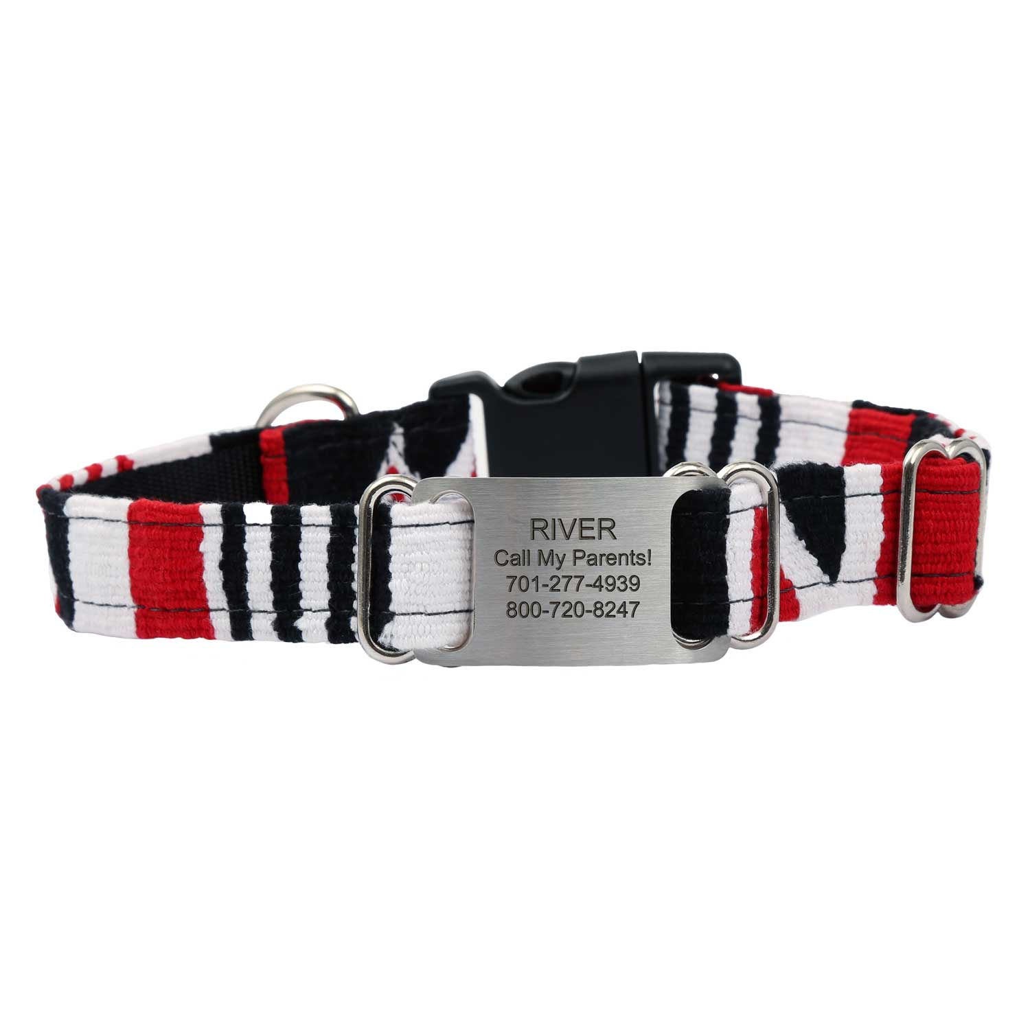 Personalized Maya Woven ScruffTag Dog Collar - Tempo