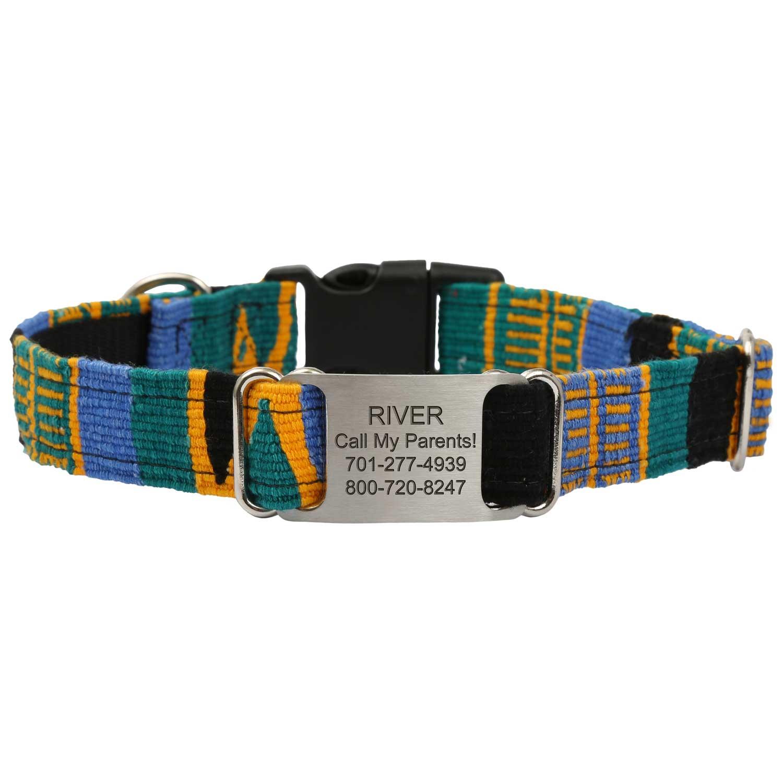Personalized Maya Woven ScruffTag Dog Collar - Yucatan