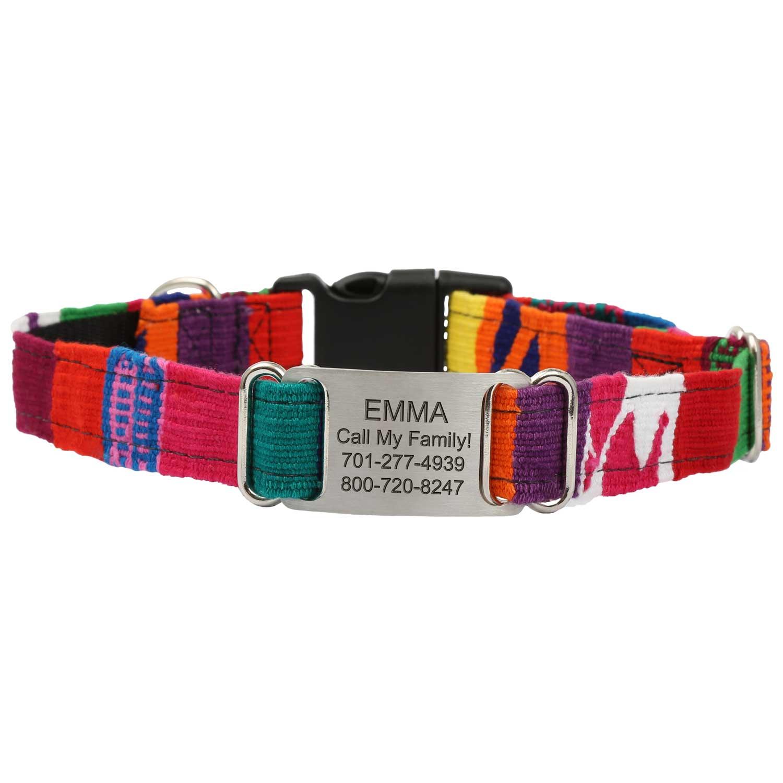 Personalized Maya Woven ScruffTag Dog Collar - Multi 2