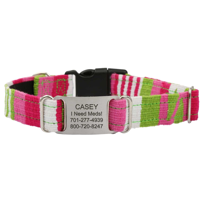 Personalized Maya Woven ScruffTag Dog Collar - Lumina