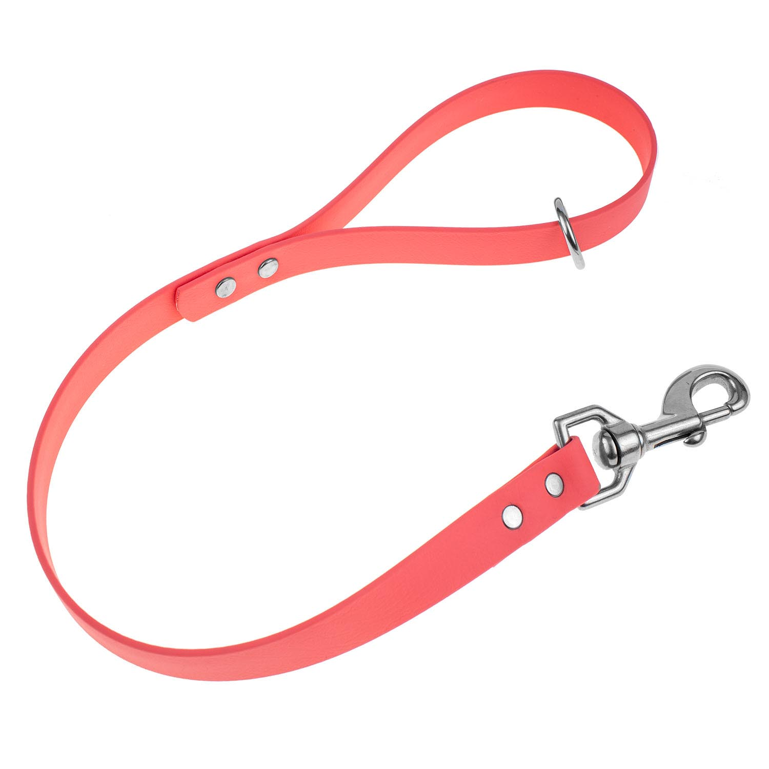 Waterproof traffic leash - coral