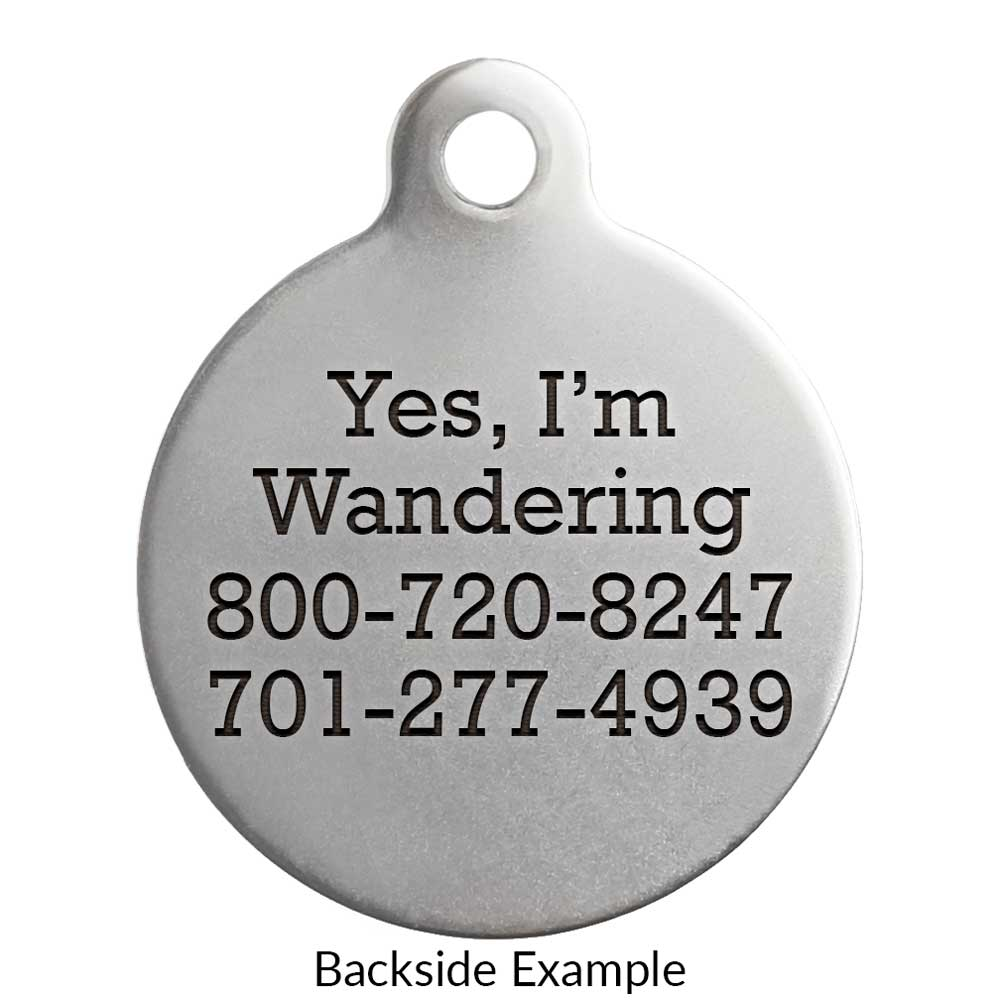 Awaken Dog ID Tag Engraving on Back