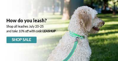 Save 10% on leashes with code LEASHUP