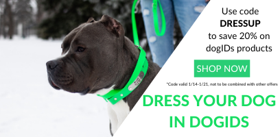 Dress your dog in dogIDs gear with code DRESSUP to save 20%