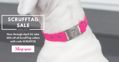 Save 20% on Scrufftag Collars!
