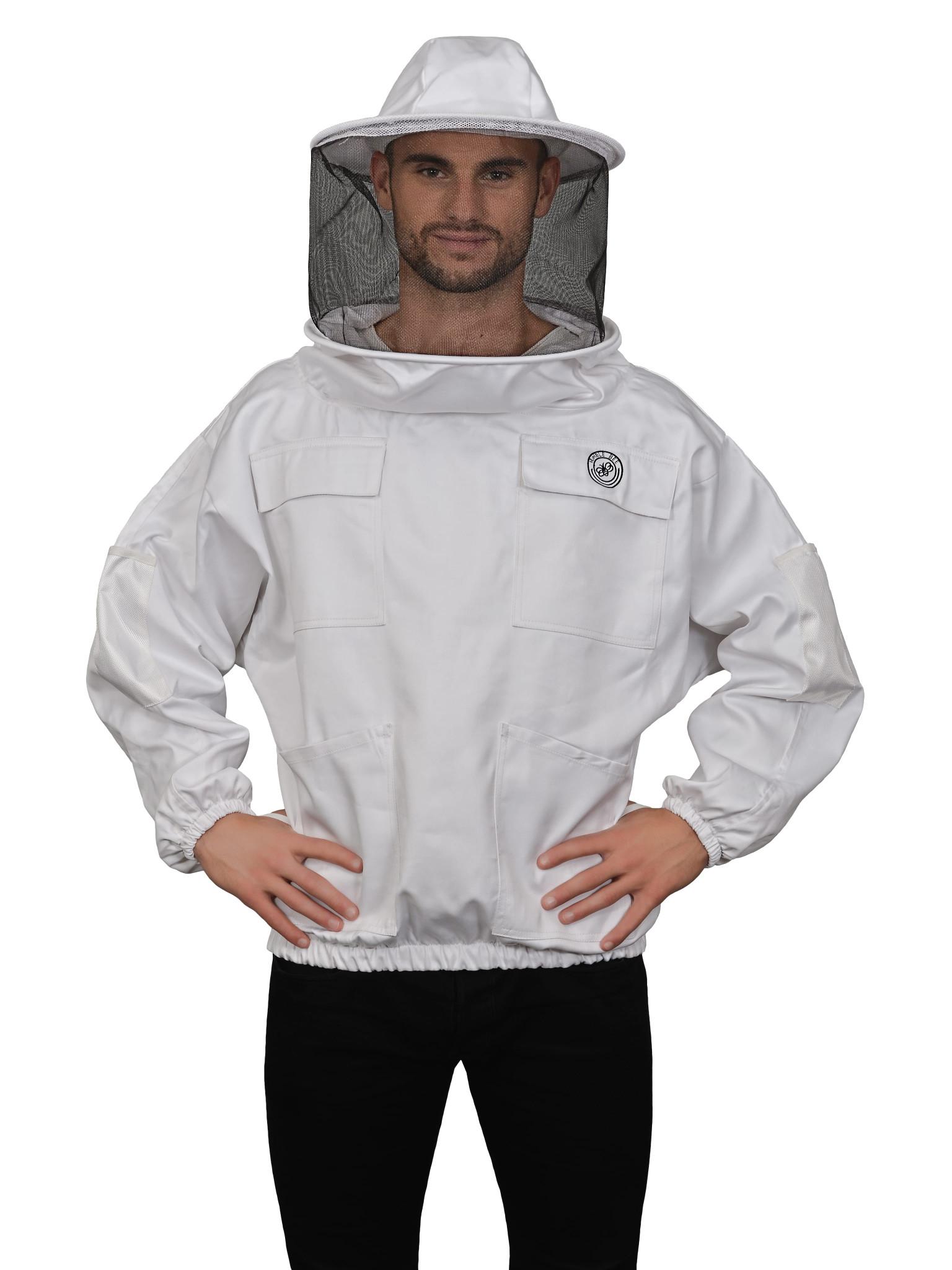 US STOCK Protective Beekeeping Jacket Veil Smock Equipment Bee Keeping Hat Suit