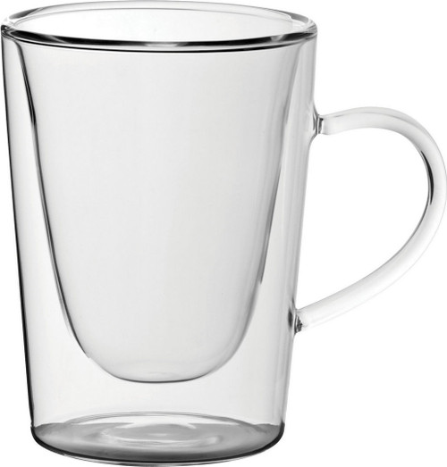 Insulated Handled Latte Glass 10oz