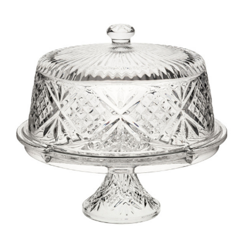 Cut Glass Cake Stand and Dome