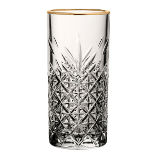 Lucia Gold Rimmed Long Drink (pack of 2)