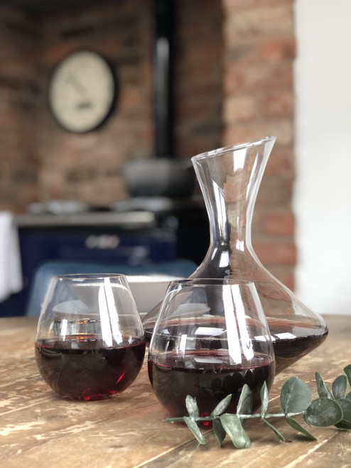 Dolce Carafe and Wine Glass Set