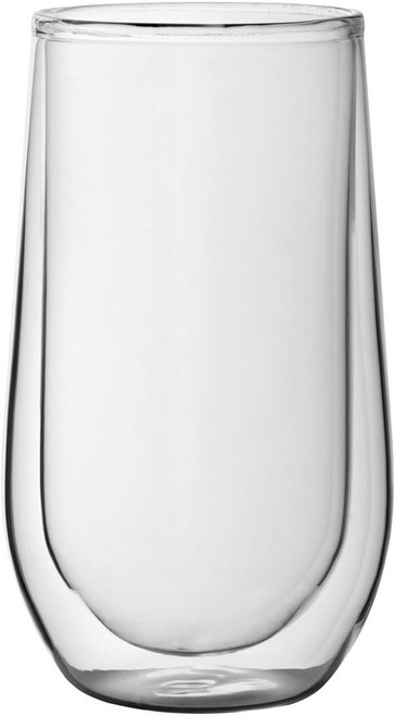 Insulated Latte Glass 15oz (pack of 2)