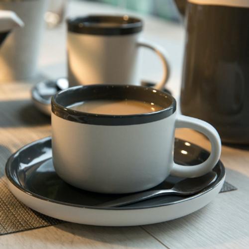 La Cafetiere Barcelona Grey Tea Cup and Saucer