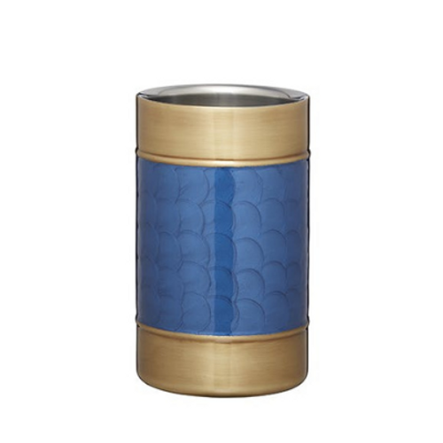 Deco Blue and Brass Cooler