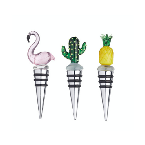 Glass Tropical Bottle Stoppers (pack of 3)
