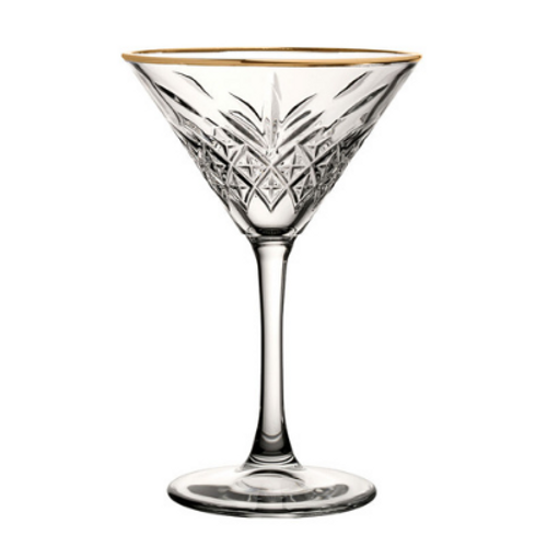 Lucia Gold Rimmed Martini (pack of 2)