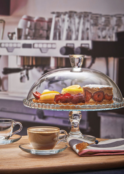 """Patisserie Cake Stand Dome 12"""""""