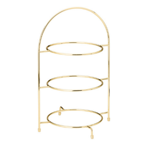 Gold 3 Tier Cake Plate Stand