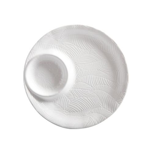 Panama 32cm White Chip and Dip Platter