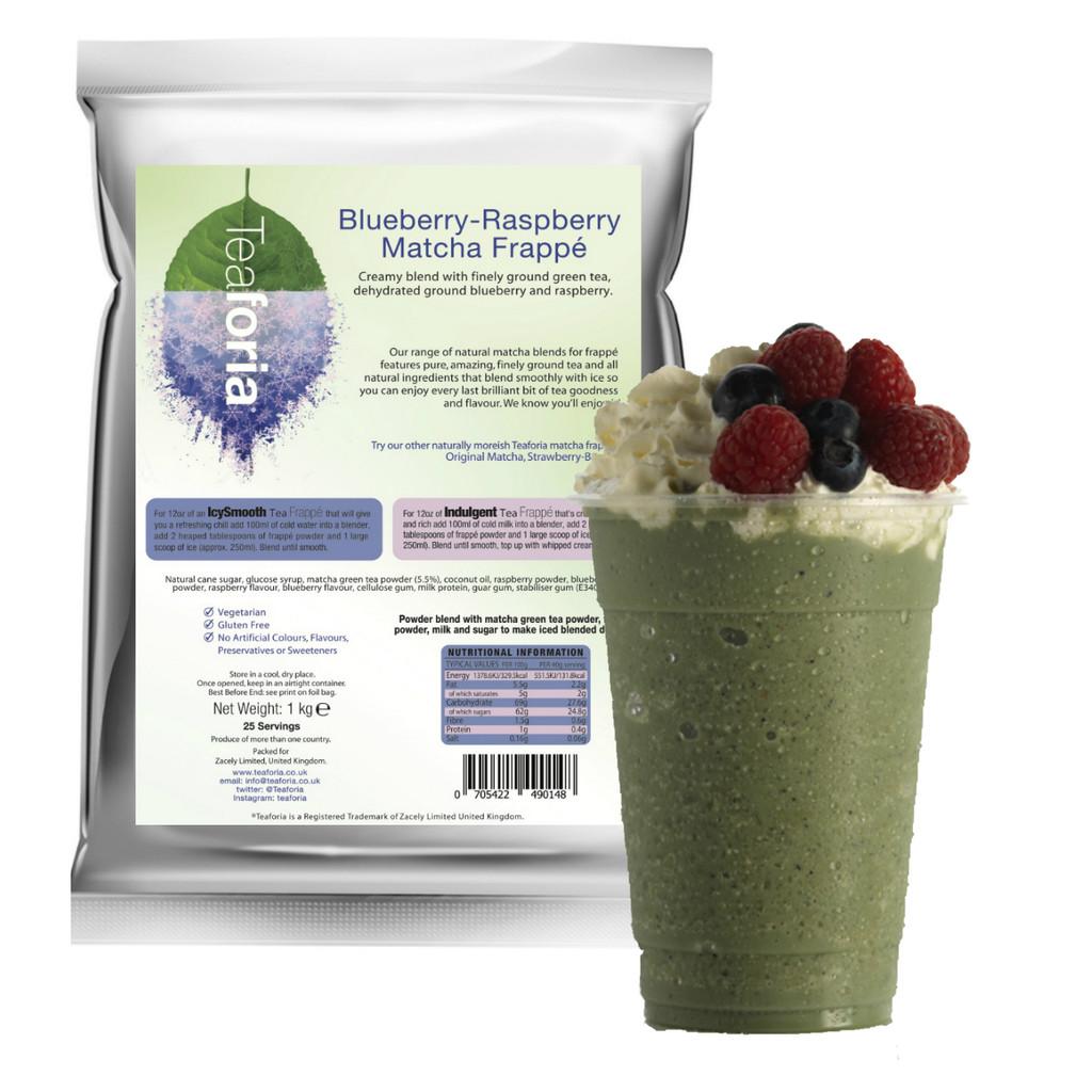 1kg Teaforia Tea Frappé Matcha - Blueberry Raspberry