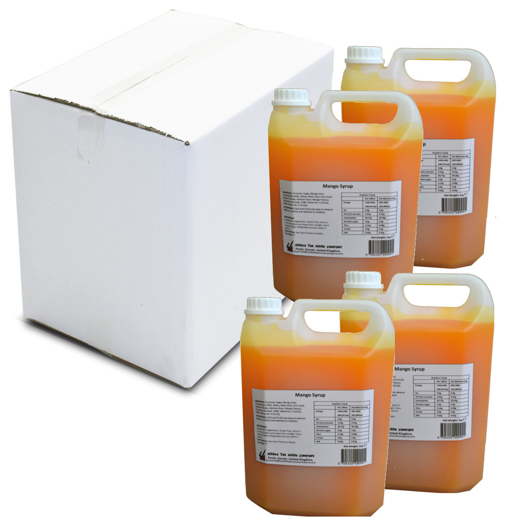 20kg (16L) Syrup for Bubble Tea -MANGO (Case of 4)