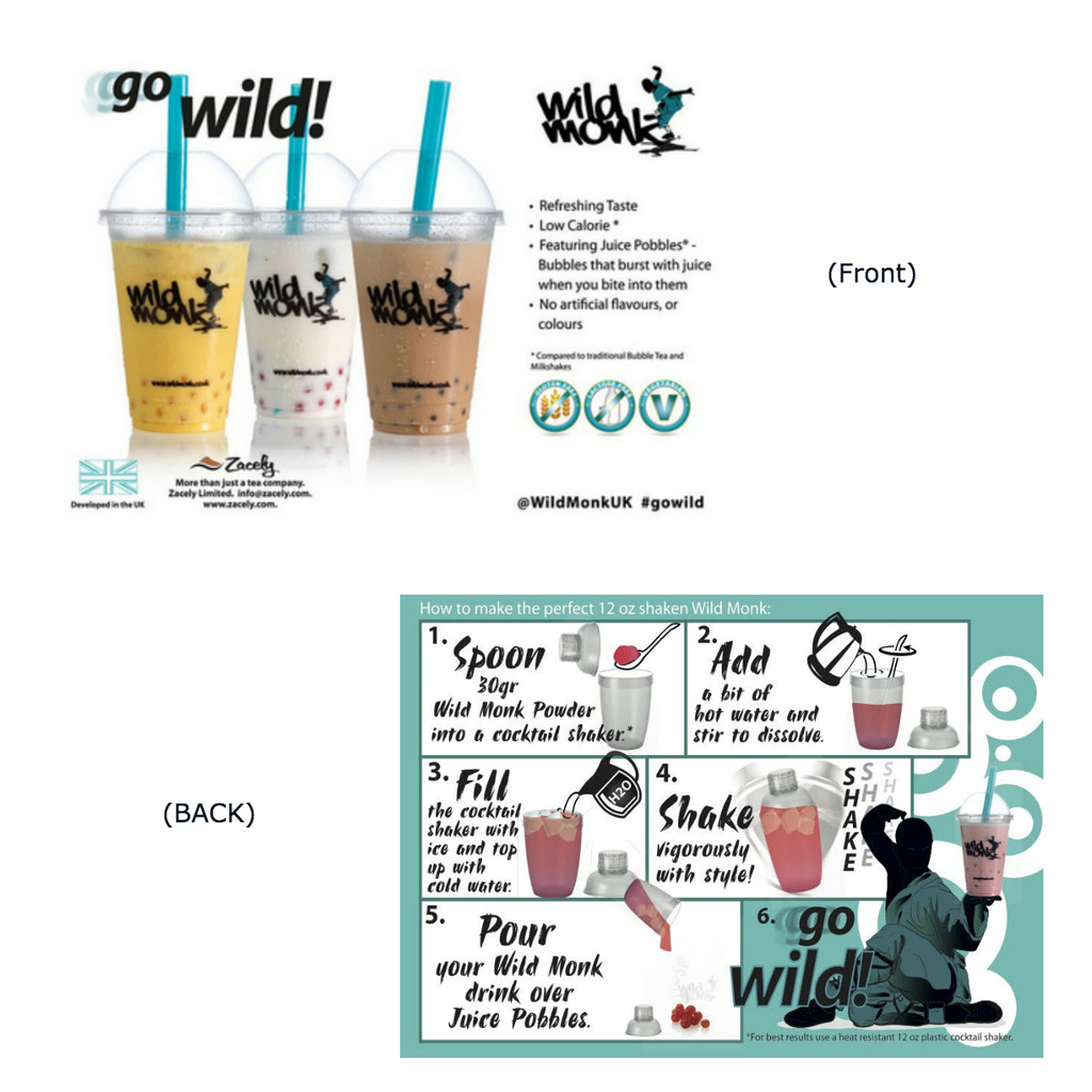 Wild Monk POS Postcard (A6)  - Double sided