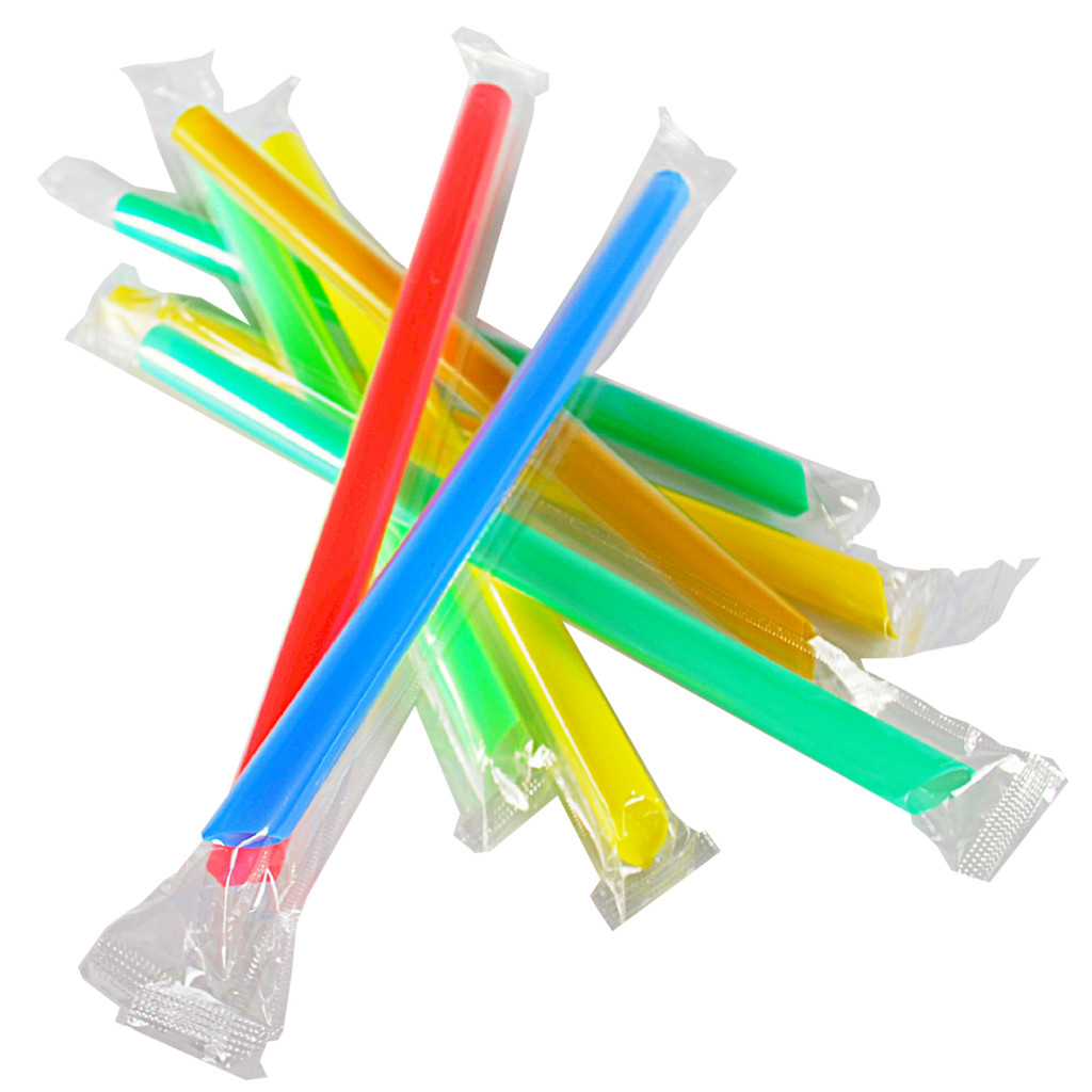 Individually Wrapped Chunky Straws for Bubble Tea or Juice Pobbles by Wild Monk