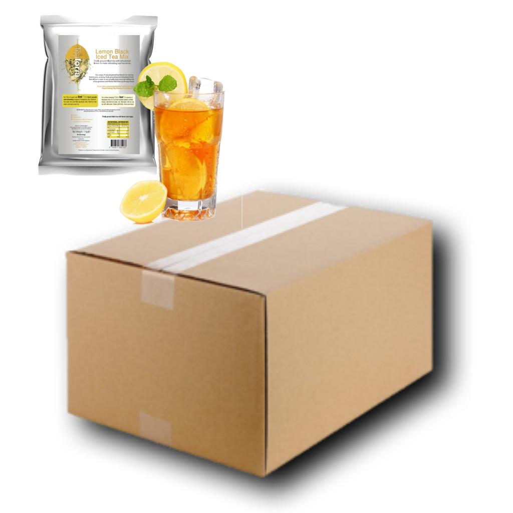 CLEARANCE (£2.50 per 1kg bag!) FULL CASE WHOLESALE 10 x 1kg LEMON (Black) Iced Tea Mix - BEST BEFORE DATE MAR/29/18