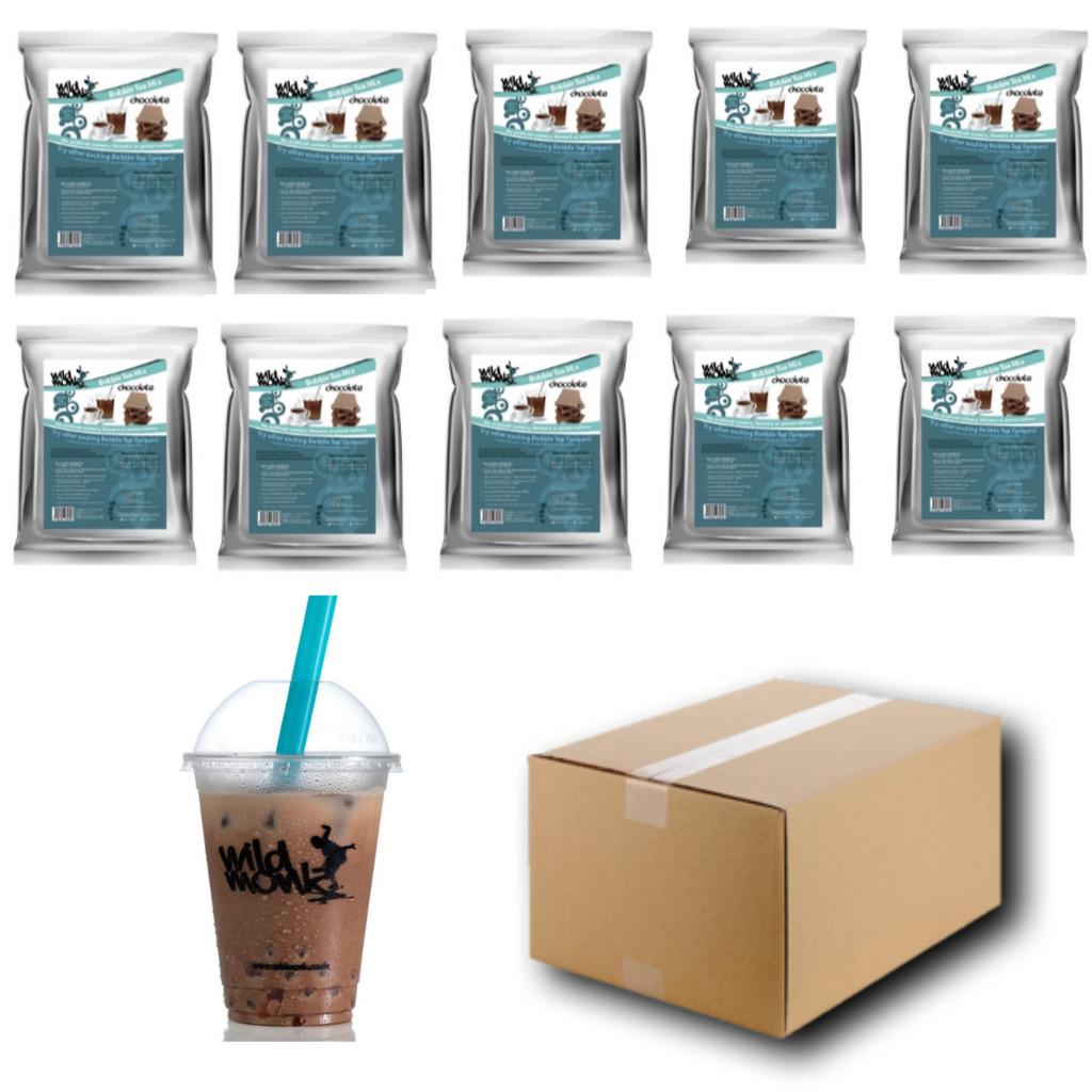 1kg CHOCOLATE Bubble Tea Mix WILD MONK  (1 CASE = 10x1kg units)