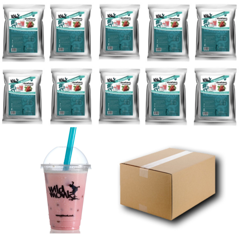 1kg STRAWBERRY Bubble Tea Mix WILD MONK (1 Case = 10x1kg units)