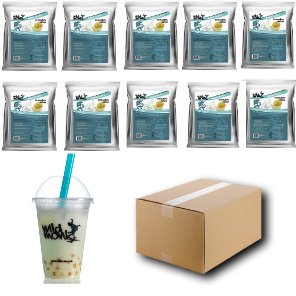 1kg HONEYDEW MELON Bubble Tea Mix WILD MONK (1 Case = 10x1kg units)