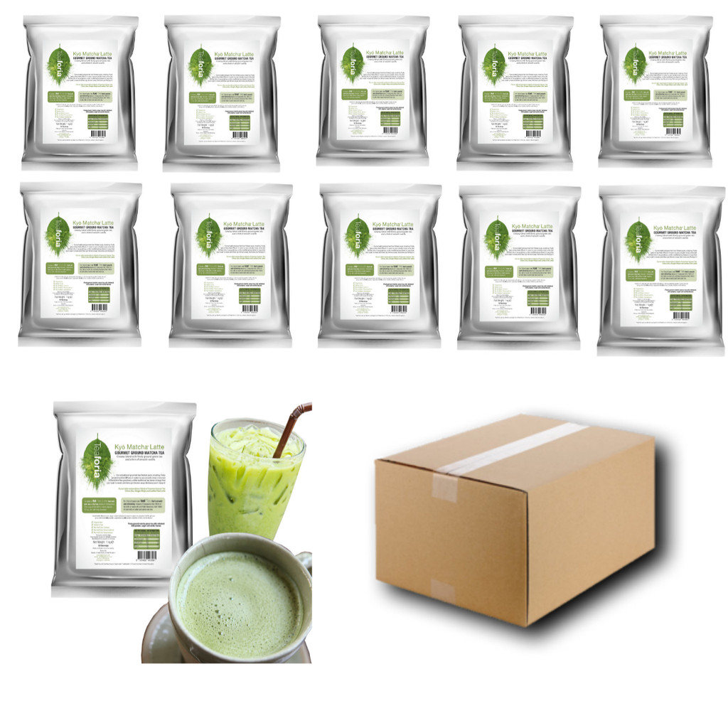 1kg Teaforia Kyō® Matcha Green Tea Latte (1 Case = 10x1kg units)