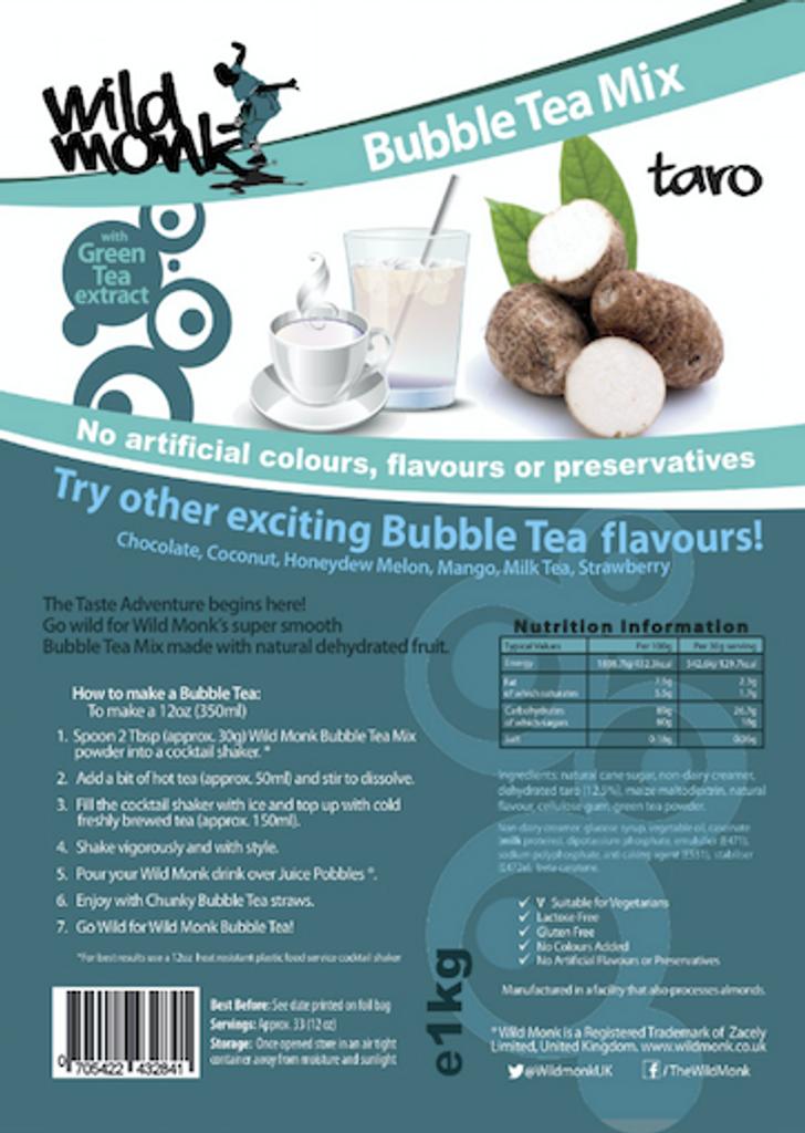 1kg TARO (PURPLE) Bubble Tea Mix WILD MONK
