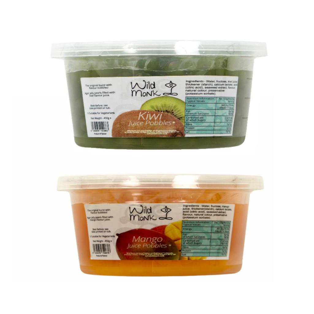 Wild Monk Kiwi and Mango Juice Pobbles Twin Pack (2 x 450g)