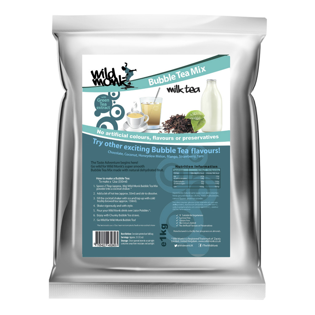 1kg MILK TEA Bubble Tea Mix WILD MONK