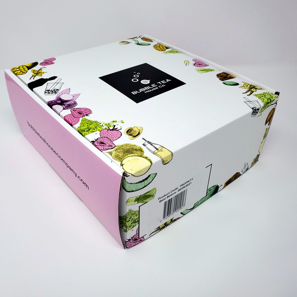 Ultimate Bubble Tea Kit MANGO (30 Servings) - Featuring Mango and Strawberry Juice Pobbles and Paper Straws
