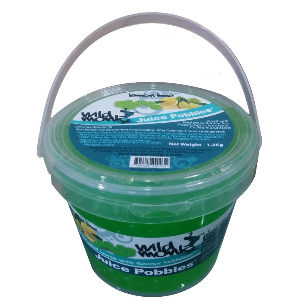 1.2kg Lemon Lime Juice Pobbles Tub by Wild Monk