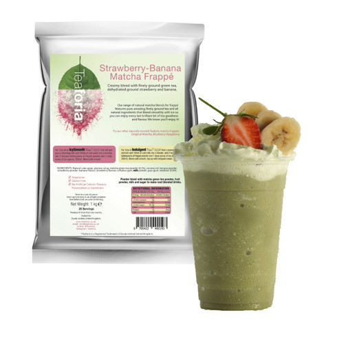 HALF PRICE! BEST BEFORE May 1st 2020 - 1kg Teaforia Tea Frappé Matcha - Strawberry Banana