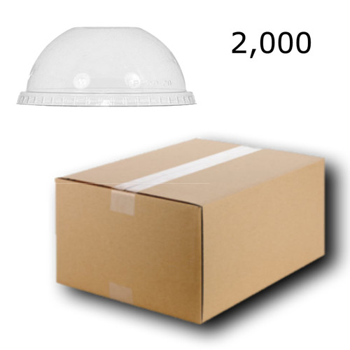 HALF PRICE 2000 x Plastic Cup Lids Dome Shaped